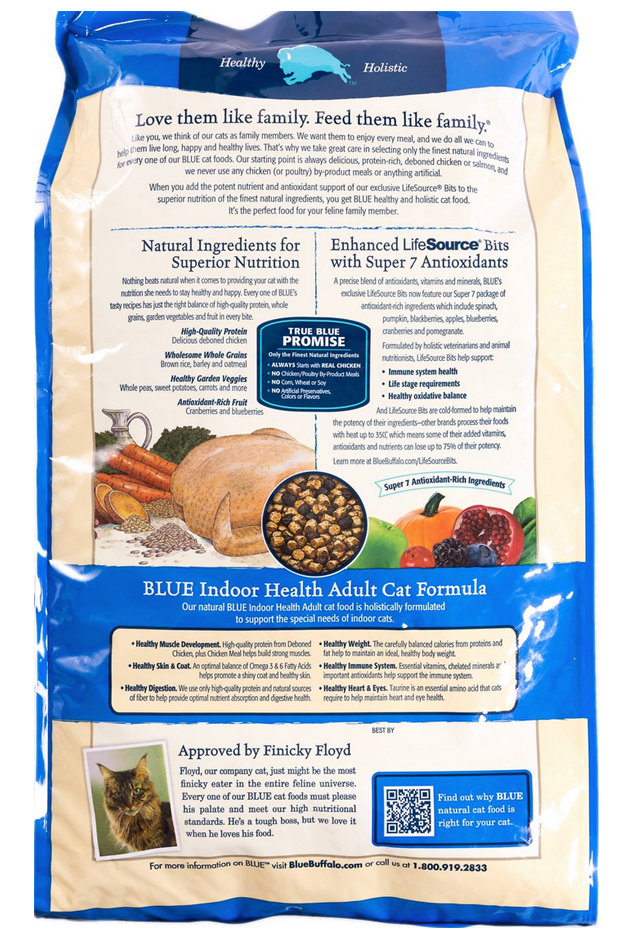 Blue Buffalo Basics Healthy Holistic Life Sources Chicken Indoor Dry