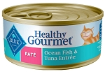 Blue Buffalo Healthy Gourmet Pate Ocean Fish & Tuna Entree Adult Canned Cat Food - 5.5oz cans 24/case