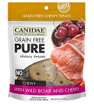 CANIDAE Grain-Free PURE Wild Boar & Cherry Chewy Dog Treats, 6-oz bag