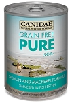 CANIDAE Grain-Free PURE Sea Salmon & Mackerel Formula Canned Dog Food, 13-oz, case of 12