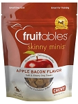 Fruitables Skinny Minis Apple Bacon Flavor Soft & Chewy Dog Treats