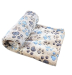 Fleece Pet Throw.  Various colors.  Paw Print and various patterns