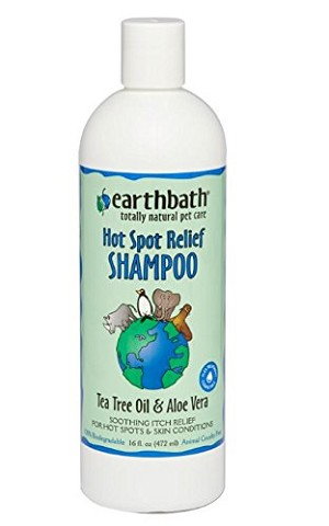 Earthbath Hotspot Relief Tea Tree and Aloe Dog and Cat Shampoo 16 oz. bottle