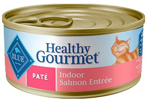 Blue Buffalo Healthy Gourmet Pate Salmon Entree Indoor Adult Canned Cat Food - 5.5oz cans 24/case