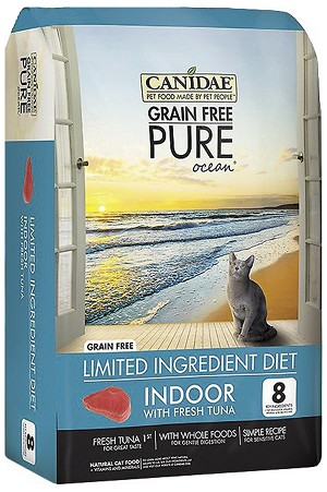 CANIDAE Grain-Free PURE Ocean with Tuna Indoor Formula Dry Cat Food