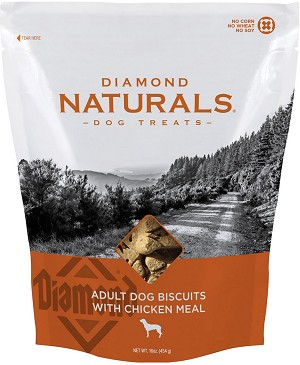 Diamond Naturals Adult Biscuits with Chicken Meal Dog Treats