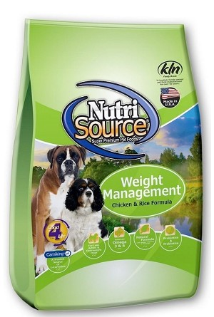 NutriSource Senior Weight Management Chicken & Rice Formula Dry Dog Food