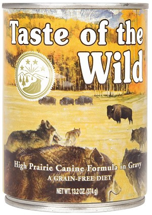 Taste of the Wild High Prairie Grain-Free Canned Dog Food, 13.2-oz, case of 12